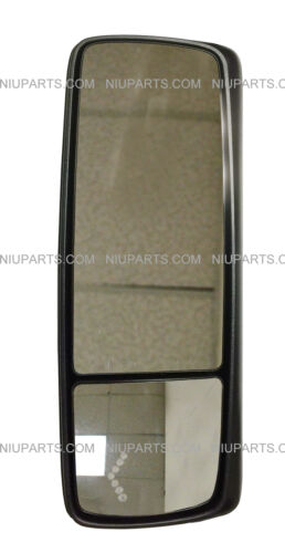 Fit: Volvo VNL VNM Door Mirror Power Heated with Turn Signal Chrome Cover LH
