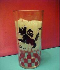 Vintage Scotty Dog Glass Tumbler Black & Red - Purina ?