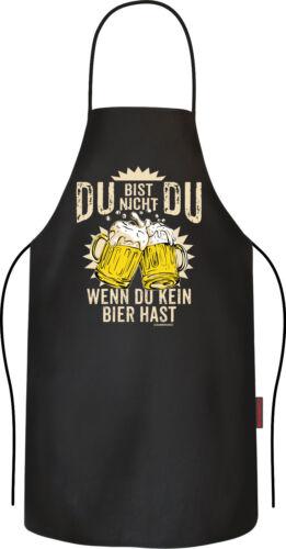 Du bist nicht Du ohne Bier Kochschürze Männer Geburtstag lustige Grillschürze