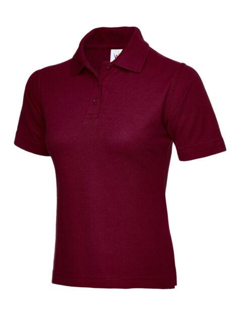 5 X Uneek Ladies Polo Shirt Sizes 8 - 22 Womens Casual Tee Classic ... 648c0218d2
