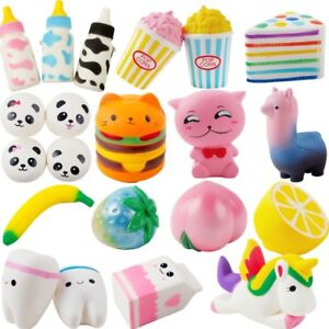 Kawaii Jumbo Cake Bread Squeeze Squishy Slow Rising Stretchy Charm Cute Pendant Kid Toy Gift Bag Accessories &ornaments Luggage & Bags
