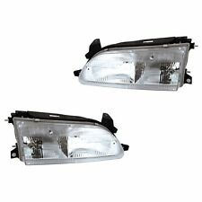 Fits 93-97 Toyota Corolla Driver + Passenger Side Headlight Lamp Assembly 1 Pair