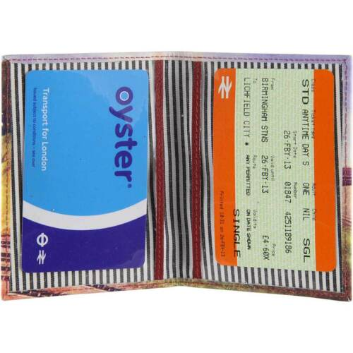 "Travel Pass//Oyster Card Holder-imprimé-Cuir /""Flying Scot/"""
