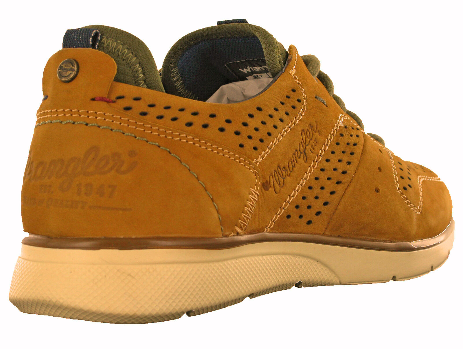 Wrangler Zapatillas espuma viscoelástica Zapatos Casual Cuero Cuero Cuero Ligero CIERVO Run 0a0ed6