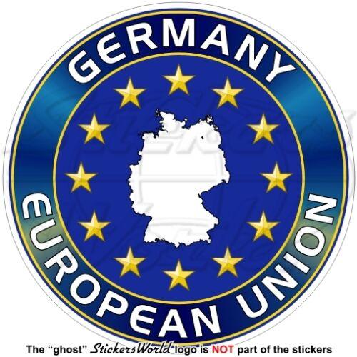 "4/"" Sticker Decal EUROPEAN UNION GERMANY Map Shape EU-DE Europe-German 100mm"