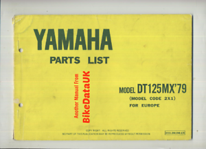 Yamaha-DT125MX-1979-gt-gt-Genuine-Parts-List-Catalogue-Book-Manual-DT-125-MX-BX45