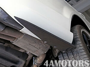 Carbon Fiber Rear Bumper Extensions for Mercedes Benz W204 C63 AMG Side Skirt