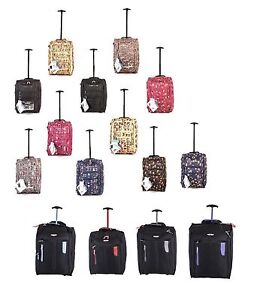 Hand Luggage Wheeled Holdall Cabin Travel Weekend Suitcase Owl Butterfly Bag