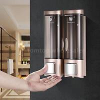 2x 200ml Manual Soap Dispenser Lotion Liquid Shampoo Shower Gel Dispenser P1c9