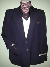 Sz. 10 &12 Vintage American Airlines Flight Attendant uniform jacket scarf wings