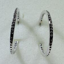 18K White Gold Filled CZ Women Fashion Jewelry Stud Dangle Hoop Earring E0256