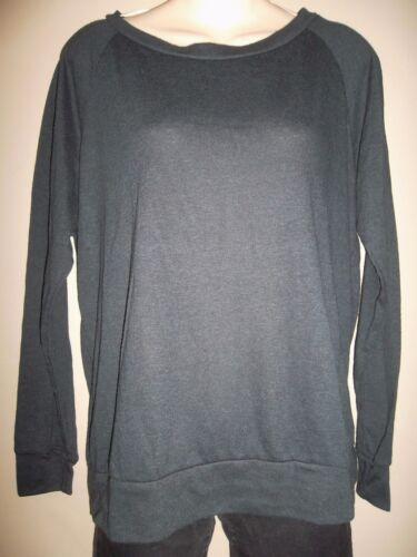 Soulcycle Shirt Top Slouchy Raglan Sleeve Lightweight Black Large