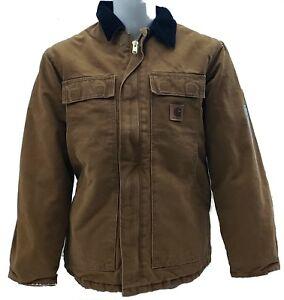 Carhartt-Men-039-s-Sandstone-Traditional-Arctic-Lined-Coat-C26