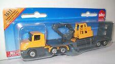SIKU 1611 Miniature LOW LOADER 15cm Long + EXCAVATOR - Diecast & Plastic Parts
