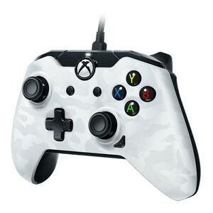PDP-Wired-Controller-fuer-Microsoft-Xbox-One-und-Windows-10-PC-Weiss-Camo-Neu-Ovp