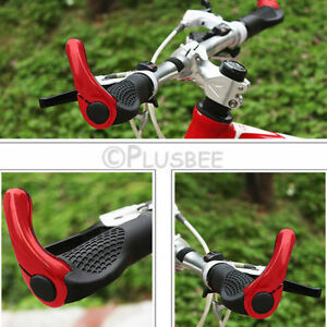 RED-MOUNTAIN-MTB-BIKE-CYCLE-BICYCLE-HANDLE-BAR-ERGONOMIC-ENDURANCE-GRIPS-ENDS