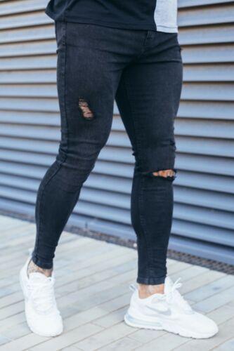 Nouveau Designer Homme Super Stretch Skinny Jeans Northern Garms Hadley Noir £ 40