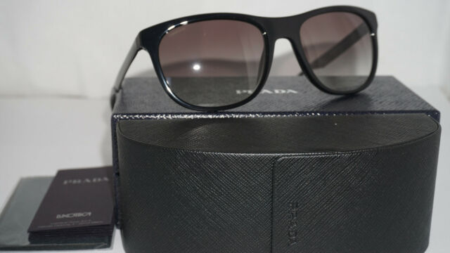 b8b9c147237c PRADA Sunglasses Spr 04s C. 1ab0a7 in Black With Gray Gradient Lenses