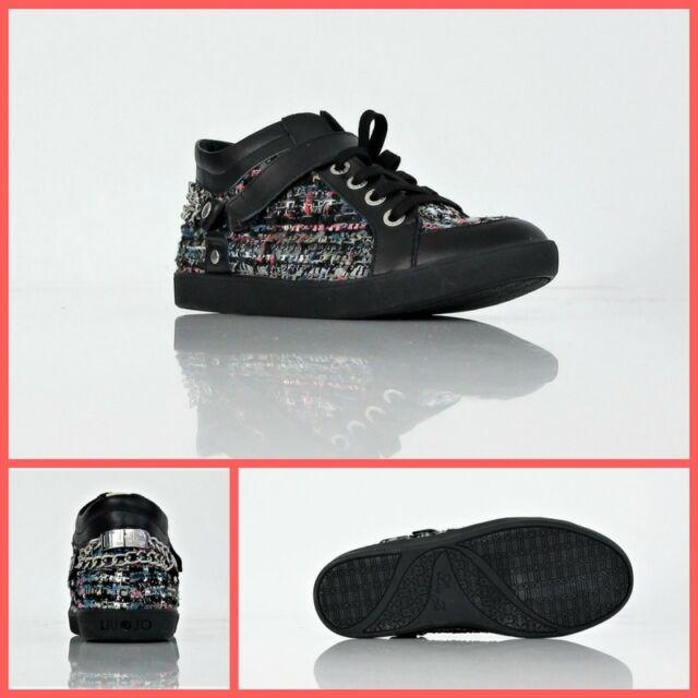 LIU JO scarpe sneaker donna MID CYRIL S65121 T8297 col.NEROMULTIC. inverno 2015