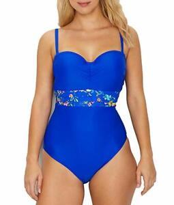 Panache-COBALT-FLORAL-Florentine-Bandeau-One-Piece-Swimsuit-US-32H-UK-32FF