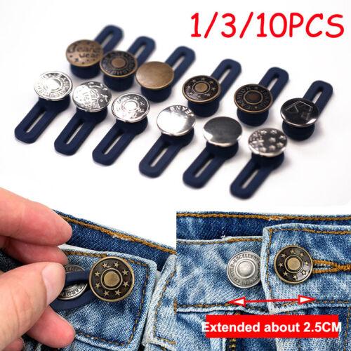 Jeans Retractable Button Adjustable Detachable Extended Button 1//3//10PCS lot