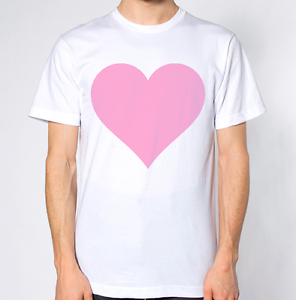 Pink Love Heart T Shirt