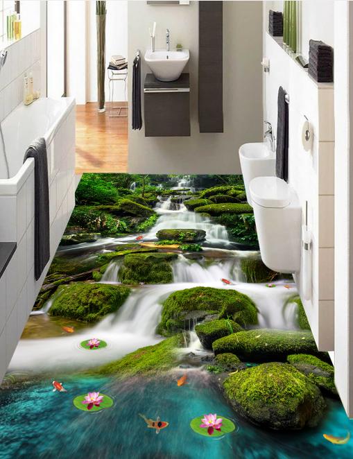 3D Stream Nature 746 Floor WallPaper Murals Wall Print Decal 5D AU Lemon