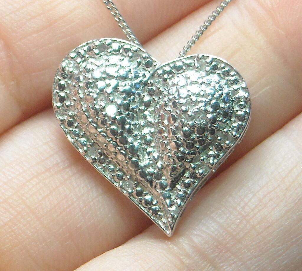 .13 ct Natural Diamond Pendant Platinum   .925