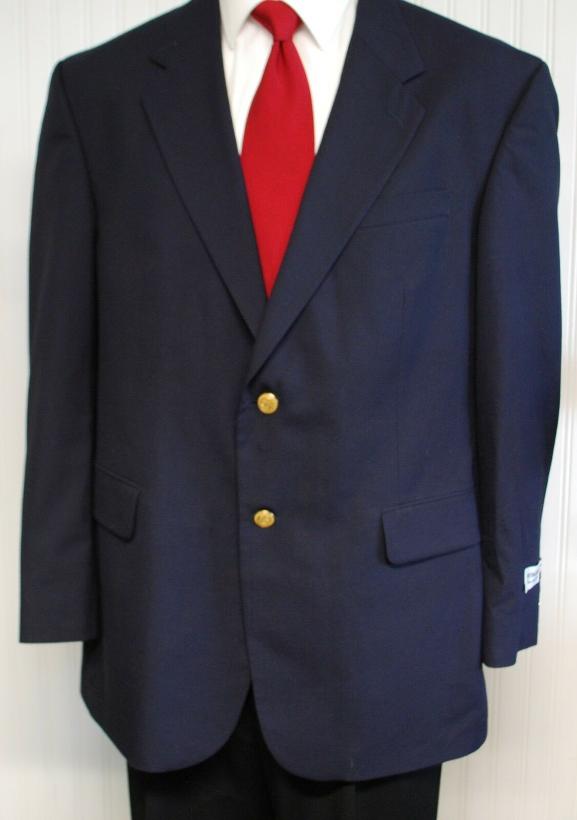Meeting Street 46 R Navy Blazer 100% Wool New With Tags Very Good Condition