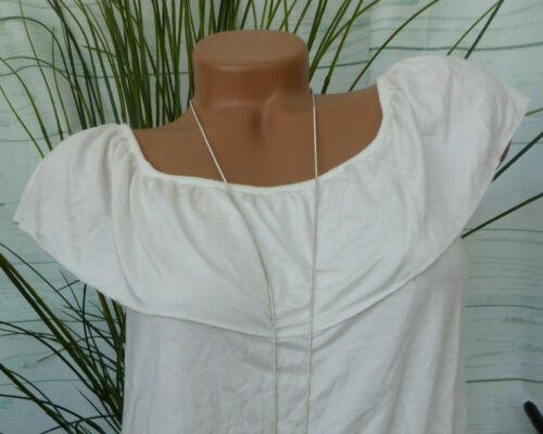 860 Haut Femmes Tunique manches courtes VERO MODA taille XS à L blanc Carmen décolleté
