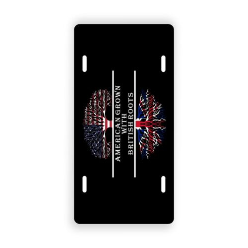 American Grown With British Roots Novelty License Plate