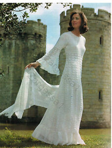 Ladies Gorgeous Wedding Dress Crochet Pattern Fits 32 37 Inch Chest