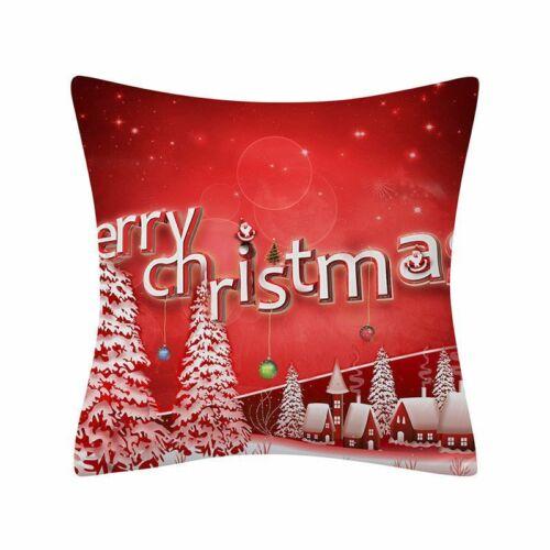 18 x 18 Inch Merry Christmas Xmas Designed Throw Pillow Case Cover Cushion Decor