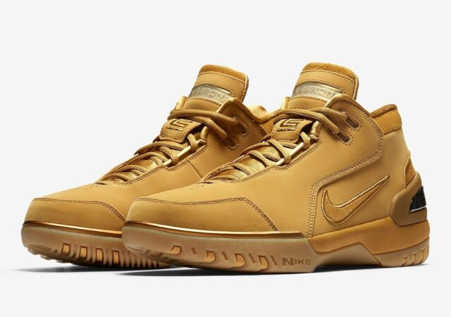 Nike Air Zoom Generation ASG QS Size 10 Wheat Gold Aq0110 700 Lebron Retro afe20c005