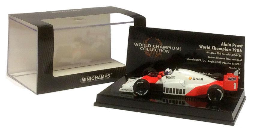 Minichamps McLaren TAG MP4 2C 1986-Alain Prost F1. Champion du monde échelle 1 43
