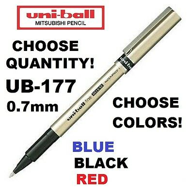 UB-177 CHOOSE HOW MANY+COLORS Uni Ball Fine DELUXE Blue Black Gel Mitsubishi Pen