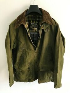 Mens-Barbour-Bedale-wax-jacket-Green-coat-40-in-size-Medium-Large-M-L-3