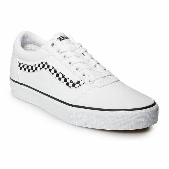 Size 12 - VANS Ward Checker Stripe - White for sale online | eBay