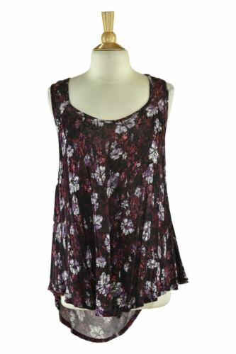 Free People Women Tops Tank Tops SM Purple Rayon