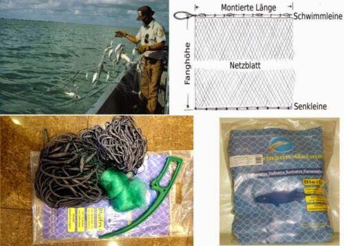 Stellnetz,Fischnetz,Spiegelnetz,3 Wandig,Finland Netz.1,8m x 90m,50mmTop Preis!!