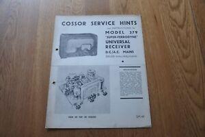 Cossor-Model-379-Super-Ferrodyne-Receiver-Genuine-Vintage-Manual-S-M-43