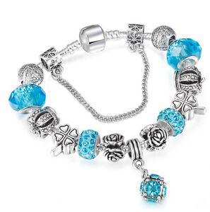 T::A Damen Bettel Armband Beads Charms rot Blüten Herz pl mit Sterlingsilber
