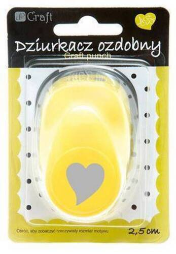"""2,5cm HEART - 5 Large Craft Punch 1/"""" Card Embelishments various designs"""