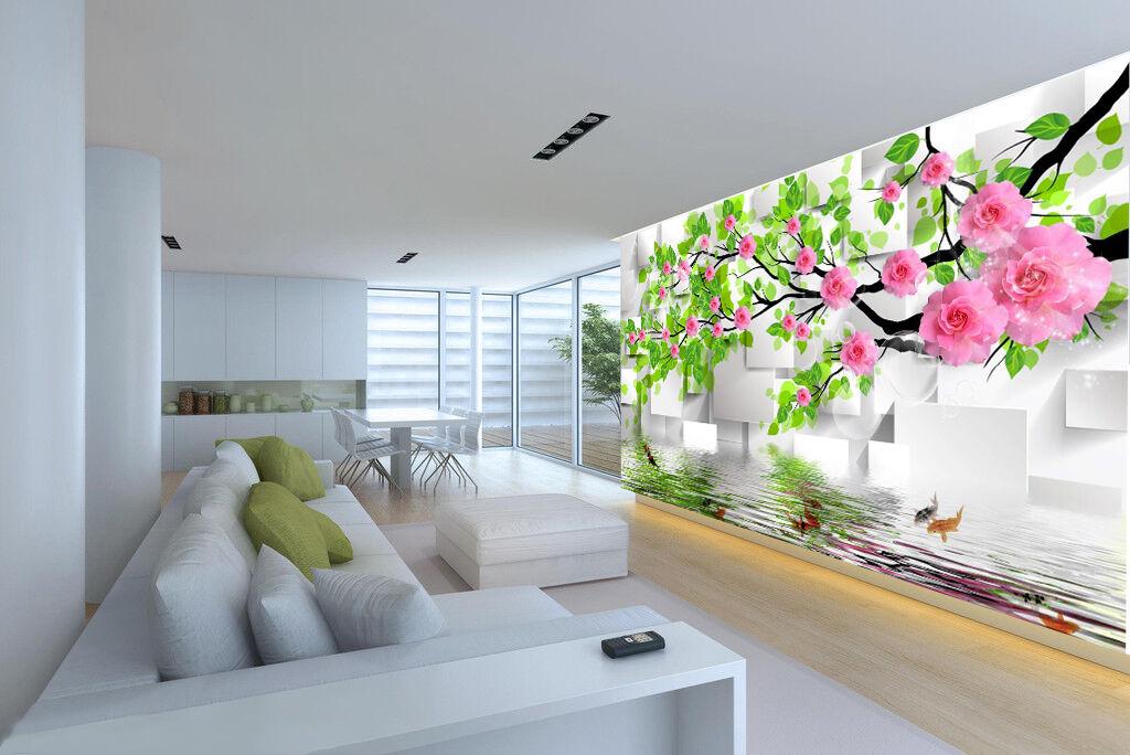 3D Pink Flower Branches Art 927 Wall Paper Wall Print Decal Wall AJ WALLPAPER CA