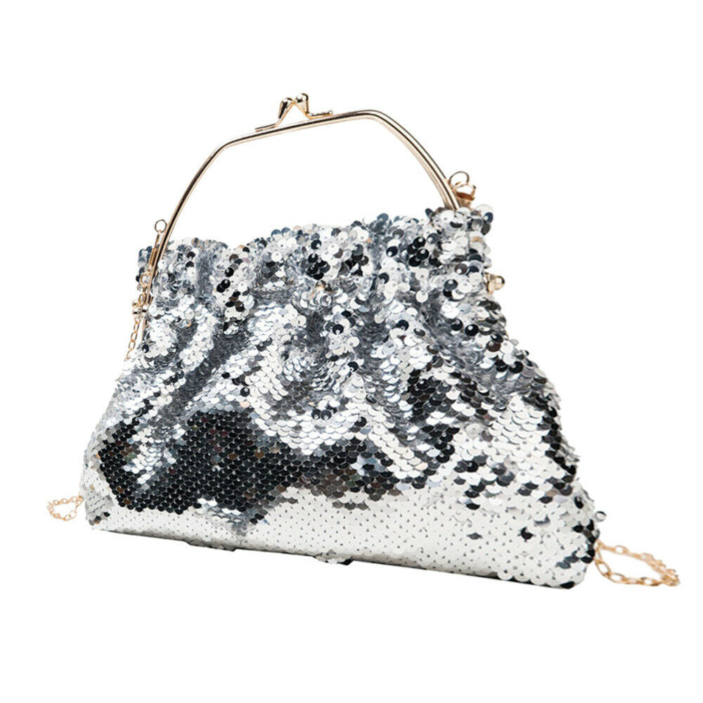 1Pc Imitated Scales Bag Unique Delicate Fashion Shiny Shoulder Bag for Party