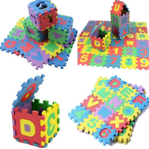36pcs Baby Kids Alphabet /& Numerals Play Mat Educational Toy Soft Foam Mats New