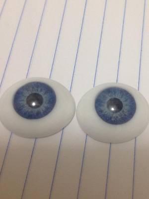 22 MM CC06 Dark Grey Glass Pabol  Doll Eyes Fast shipping