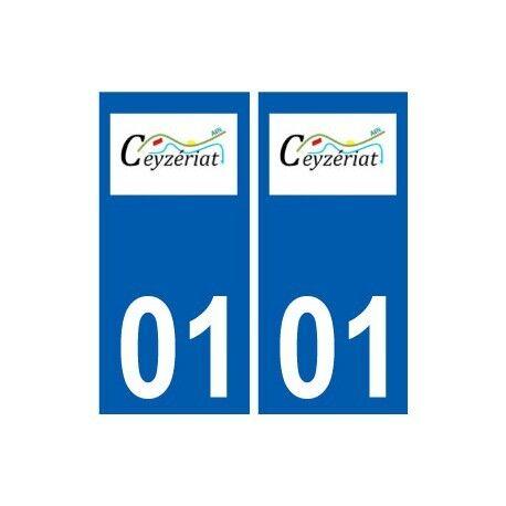 01 Ceyzériat logo ville autocollant plaque sticker arrondis