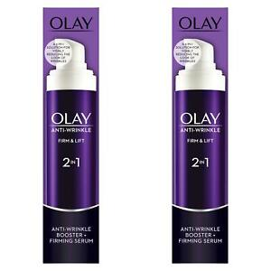 2-x-Olay-Anti-Wrinkle-Booster-Firm-amp-Lift-2-In-1-Day-Cream-amp-Firming-Serum-50ml