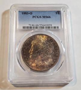1883-O Morgan Silver Dollar $1 Graded PCGS MS66 - Nice Toning